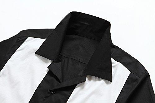 Candow Look Mens Retro Bowling Shirt Online Shirts Vintage Camicie White