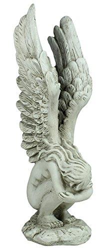 colourliving® Hockender Engel Dekofigur Ruhender Mann mit aufgestellten Flügeln Schutzengel