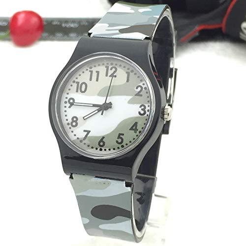 LILIHOT Kinder Armbanduhr wasserdichte Quarzuhr Camouflage Kinderuhr Quarz Armbanduhr für Mädchen Jungen Outdoor Wasserdicht Uhren Sportuhr Armbanduhren -