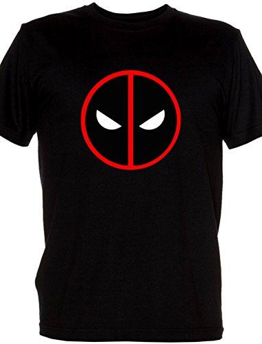 Renowned Men's Deadpool face mask 2D Schwarz