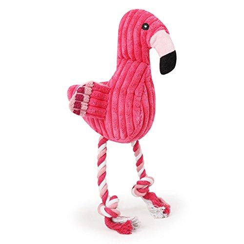 Hundespielzeug Plüsch Flamingo Spielzeug für Hundewelpen - Cool Squeaky Dog Kauspielzeug Geeignet für kleine, mittlere Große Hund (Cool Hund Spielzeug)
