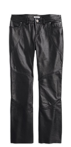 Harley-Davidson Highland Contoured Boot Cut Leather Pant 98065-13VW Damen Pants, Schwarz (Highland Harley)