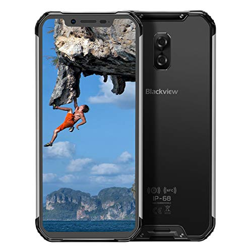 Blackview BV9600 (2019) Cellulare Antiurto, 6.21 Pollici 19:9 FHD+ Display, Helio P70 4GB RAM 64GB ROM, Smartphone IP68, 5580mAh, Antipolvere, Antiurto, Nero