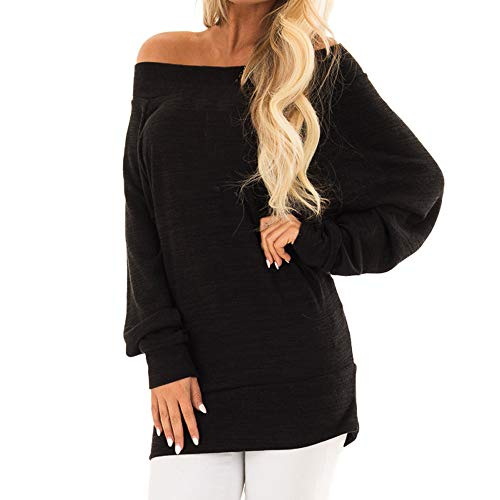 Damen Hemd Pullover Langarm Shirts Tunika Frauen Plus Größe V-Ausschnitt Taste Langarm Brief Bluse Tops Shirt S~5XL