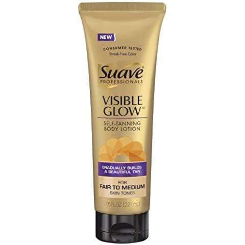 Suave Professionals Visible Glow Self-Tanning Body Lotion - Fair to