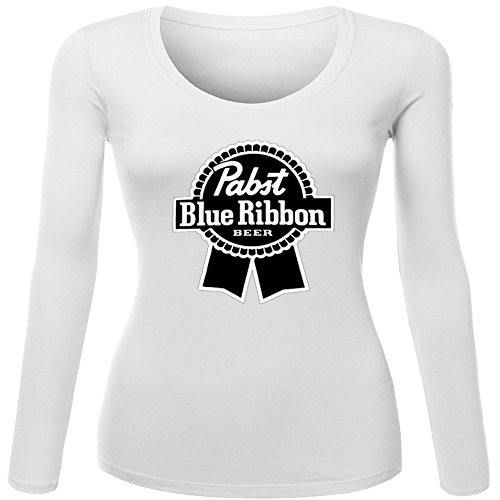 pabst-blue-ribbon-logo-for-ladies-womens-long-sleeves-outlet