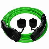 EV Cables Euro Series Performance Ladekabel Typ 2 auf Typ 2-3-PHASE 32 A, 10 m, 22 kW, inkl. Tragetasche, Grün