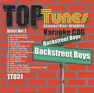Top Tunes Karaoke CDG TT-031 Artist Vol. 2 Backstreet Boys by Backstreet Boys (Boys Backstreet Karaoke-cds)