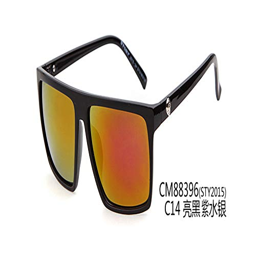 Sportbrillen, Angeln Golfbrille,Retro Square Sunglasses Mens Vintage Sun Glasses Brand Designer Man Goggles Square Steampunk Eyewares Gafas De Sol Gafas ST88 C14