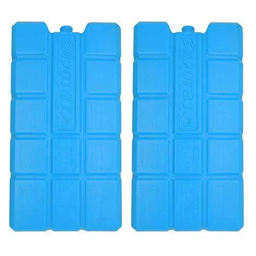 NEMT 2 x Kühlakku 750 ml Kühlelemente für die Kühltasche oder Kühlbox Kühlakku