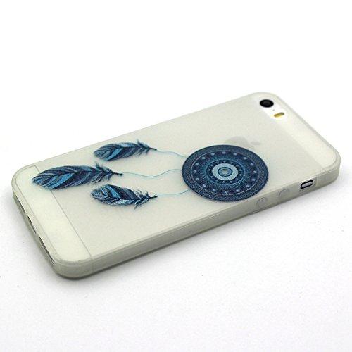 Custodia per iPhone 5S,Cover per iPhone SE Silicone,BtDuck Ultra Slim Creativo Nottilucenti Luminoso Flessibile TPU Morbido Silicone Protettiva Cassa Trasparente Creativo Gufo Animale Modello Design C #26
