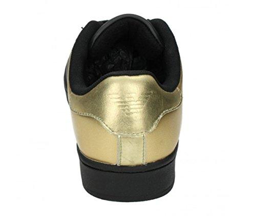 Armani bicolore Jeans B6565% 2FGold per allenamento, in pelle, colore: nero Nero (nero)