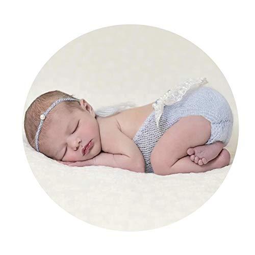 Newborn Kostüm Cute - Yunbo-BC Baby Fotografie Prop Kostüm Baby Girl Fotografie Requisiten Infant Cute Newborn Vest Bilder Kleidung monatliche Foto-Shooting Outfits Neugeborene Kleidung (Farbe : Blau, Größe : S)