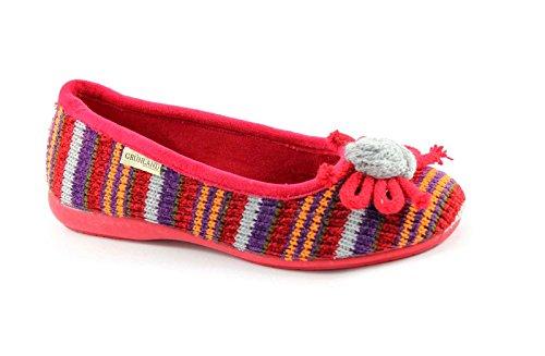 GRUNLAND DEAR PA0452 rosso pantofole ciabatte donna panno Rosso