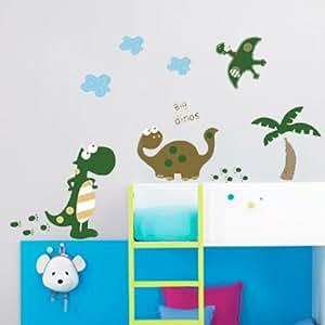 Walplus set de stickers muraux motif dinosaures grand - Stickers muraux grand format ...