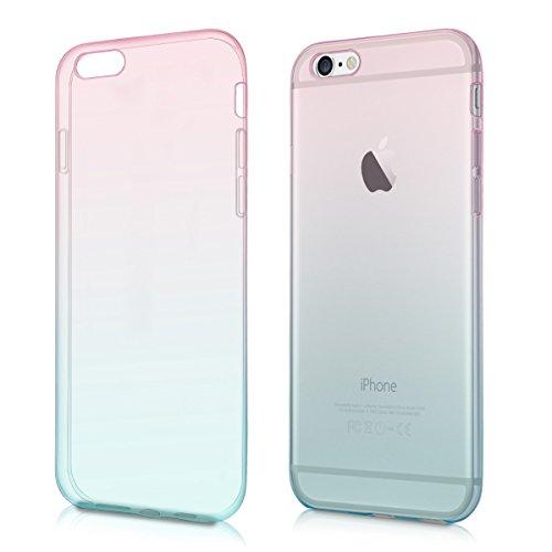 e 6 / 6S Hülle - Handyhülle für Apple iPhone 6 / 6S - Handy Case in Pink Blau matt ()