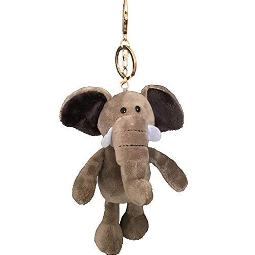 FJYDHR Tier Plüsch Schlüsselbund Spielzeug Niedlichen CartoonTier Rucksack SchlüsselbundHund Elefant Fuchs Wolf Orang-Utan Paar Kind Geschenk, Braun B (Spielzeug Hund Orang-utan)