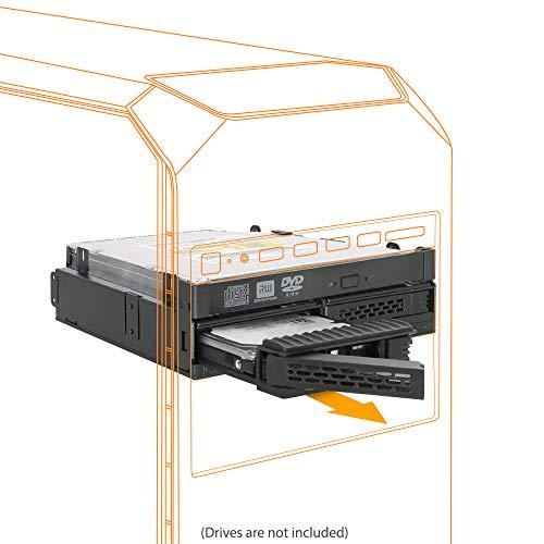 ICY DOCK Wechselrahmen 2x2.5 SATA - Laufwerks-Gehäuse - Serial Attached SCSI (SAS), MB732SPO-B