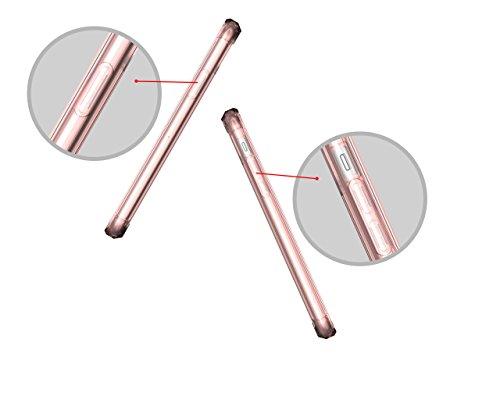 KANTAS Ultra Hybrid Custodia Chiaro per iPhone X Nero TPU Silicone Bumper Trasparente Cristallo Protettivo Case [ Protezione Dalla Goccia / Cover con Tecnologia di Assorbimento Urto / Antigraffio / Pr Rosa