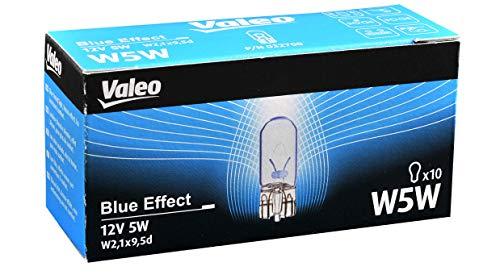 Valeo Ampoules Halogène, W5W-Blue Effect-Cardboard x10, 32700, Set de 10