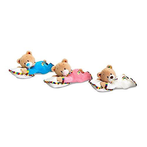 Keel Toys Rainbow Nursery Bear with Pillow Soft Toy 28 cm (Pink)