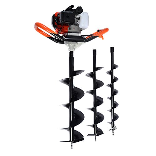 fds-52cc-petrol-earth-auger-set-digger-3hp-v-type-post-hole-borer-fence-ground-drill-w-3-bits