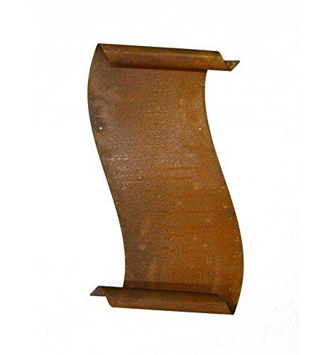 Metallmichl Edelrost Große Schriftrolle Zum Beschriften 37 cm Wand-Dekoration/Wand-Deko aus Rost Metall für Innen und Außen