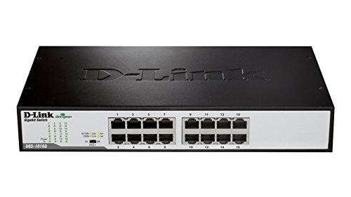 D-Link DGS-1016D Switch 16 Porte Gigabit, Nero