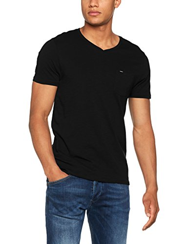 O'Neill Herren Jacks Base V-Neck T-Shirt Streetwear Tees Shirts Black Out