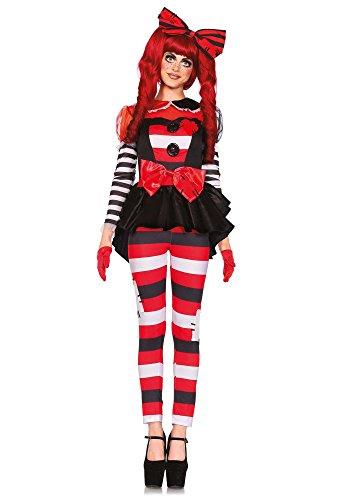 Kostüm Doll Rag Damen - shoperama Damen-Kostüm Leg Avenue - Rag Doll, Größe: S