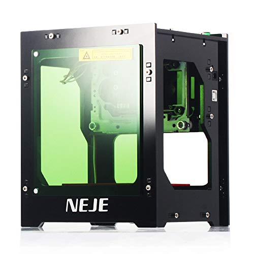 KKmoon 3000mW La-ser Engraver 445nm Intelligente AIMini-Graviermaschine unterstützt Offline-Betrieb DIY-Druckschnitzmaschine für Windows