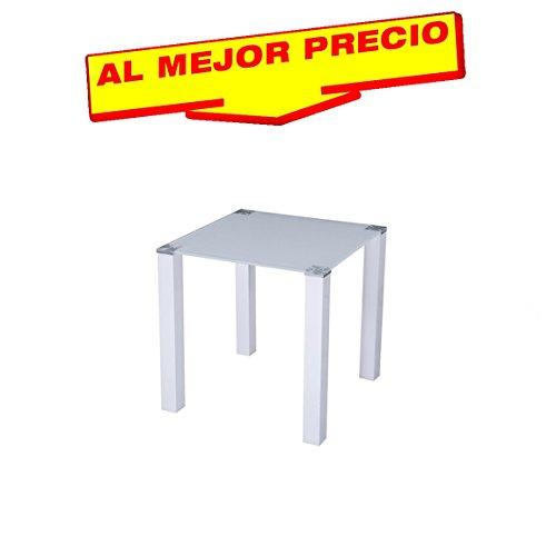 MESA DE COMEDOR DE ESTILO MODERNO LACADA BLANCA MODELO MADISON , MEDIDAS 80X80 CMS - OFERTAS HOGAR -¡AL MEJOR