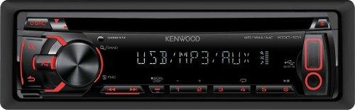 Kenwood Electronics KDC-101 200W Noir récepteur multimédia de Voiture - Récepteurs multimédias de Voiture (Noir, 200 W, 4.0 canaux, CD-R,CD-RW, 105 DB, Numérique)