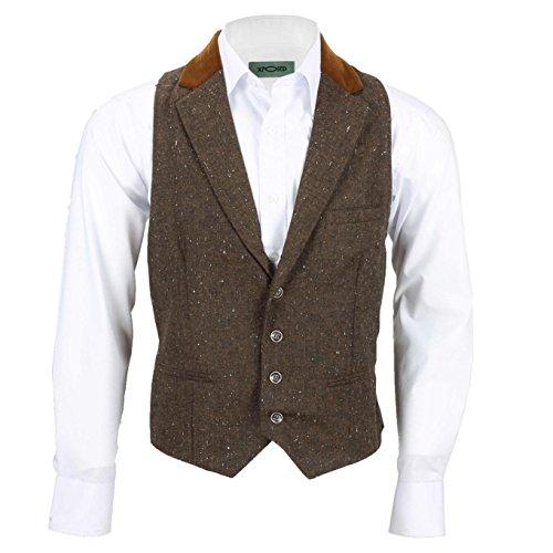 Xposed -  Abito  - Uomo Waistcoat-Collar-Brown