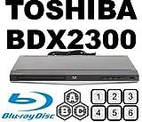 TOSHIBA BDX2300 Multi All Region Code Free Blu Ray DVD Player CODEFREE DVD & BD ZONE A/B/C, DVD REGION 012345678 PAL/NTSC DivX AVI MKV, 100~240V 50/60Hz Int'l Version with EU/UK Power Plug (2m HDMi Cable Included)