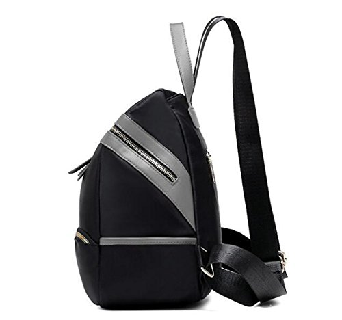 Rucksack Damenmode Wasserdicht Oxford Canvas Bag Student Bag Black