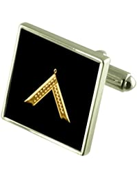 Select Gifts Tartan Clan Oliphant Cufflinks in Engraved Personalised Case
