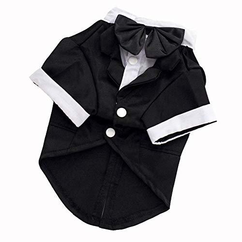 Butler Kostüm Hunde - OVCK PET CARE Katze Kostüm Hund Kostüm Ein Formelles Hemd Anzug Smoking Hund Kleidung Süß/Schwarz/Xl