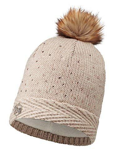 Buff Set - Knitted & Polar Hat Bonnet de Hiver + UP Tissu Tubulaire | Fleece | Tricoté | Sports d'hiver | Bonnet de Ski | Knitted:Aura CRU Chic / 113522.014.10.00
