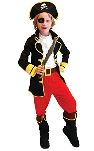 Junge Karneval Kostüm Fasching Halloween-Kostüm verkleiden Piraten-Kostüm Captain Jack (Pirate Halloween Kinder Kostüme)