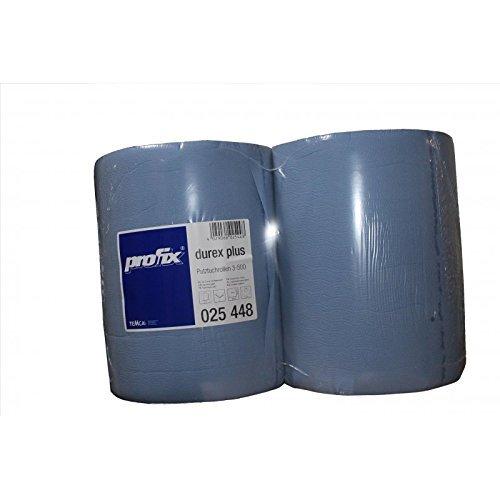 Preisvergleich Produktbild 2 x Putztuchrolle 3 lagig blau 38 cm x 36 cm je 500 Blatt Werkstattrolle Putzpapier Putztuch Putzrolle sehr weich saugfähig und stark