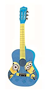 DESPICABLE ME Minions, GRU - Guitarra clásica de 6 Cuerdas, 78 cm Largo, Material de Madera (Lexibook K2000DES)