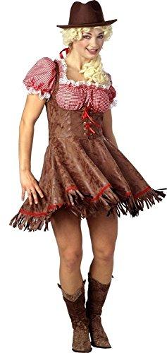 KARNEVALS-GIGANT Cowgirl Kostüm braun-rot für Damen | Größe -