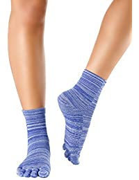 Knitido Wellness Massage - Calcetines de tobillo alto con dedos, Bienestar y Masaje, Size:UK 9-11;FB meliert:Blueberry (008)