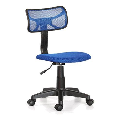 Sedia girevole scrivania regolabile in altezza poltrona blu ufficio cameretta