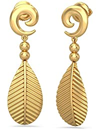 BlueStone 18k (750) Yellow Gold Drop Earrings