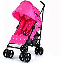 ZeTa Vooom Stroller Buggy Pushchair ( Many Colours Available ) Inc Raincover (Pink Dots)