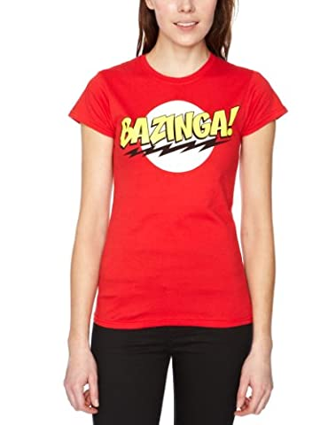 Big Bang Theory - T-shirt - Femme - Rouge (Red) - FR : S (Taille fabricant : S)