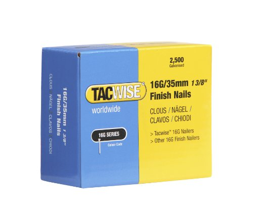Tacwise 0295 Clous de Finition 16 GA/35 mm Lot de 2 500 Pièces
