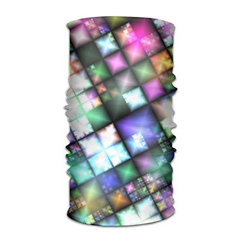 Jieaiuoo Headwear Headband Colorful Neon Head Scarf Wrap Sweatband Sport Headscarves For Men Women